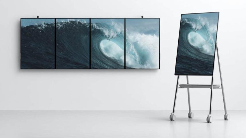 数码|微软 Surface Hub 2 巨大平板电脑 4合1组成屏幕墙